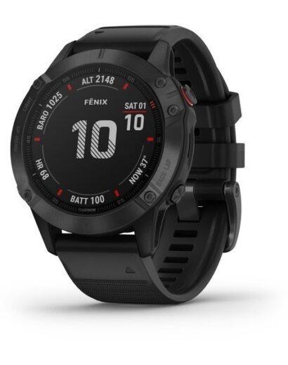 Bėgimo laikrodis Garmin Fenix 6 Pro Black