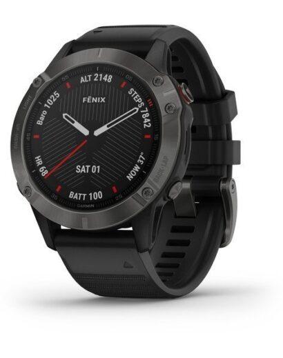 Bėgimo laikrodis Garmin Fenix 6 Sapphire Gray
