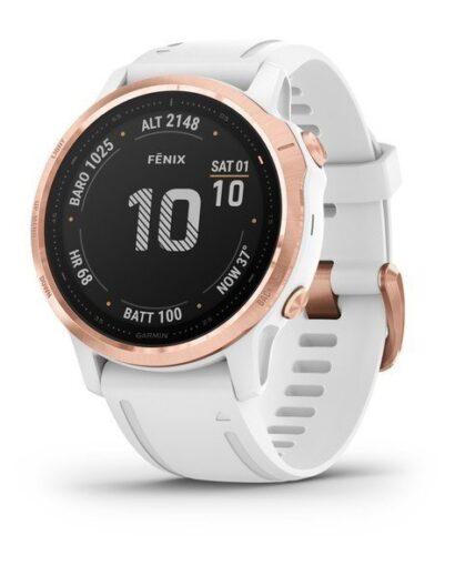 Bėgimo laikrodis Garmin Fenix 6s Pro Rose Gold White