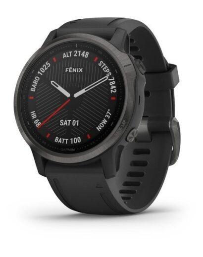 Bėgimo laikrodis Garmin Fenix 6s Sapphire carbon grey DLC